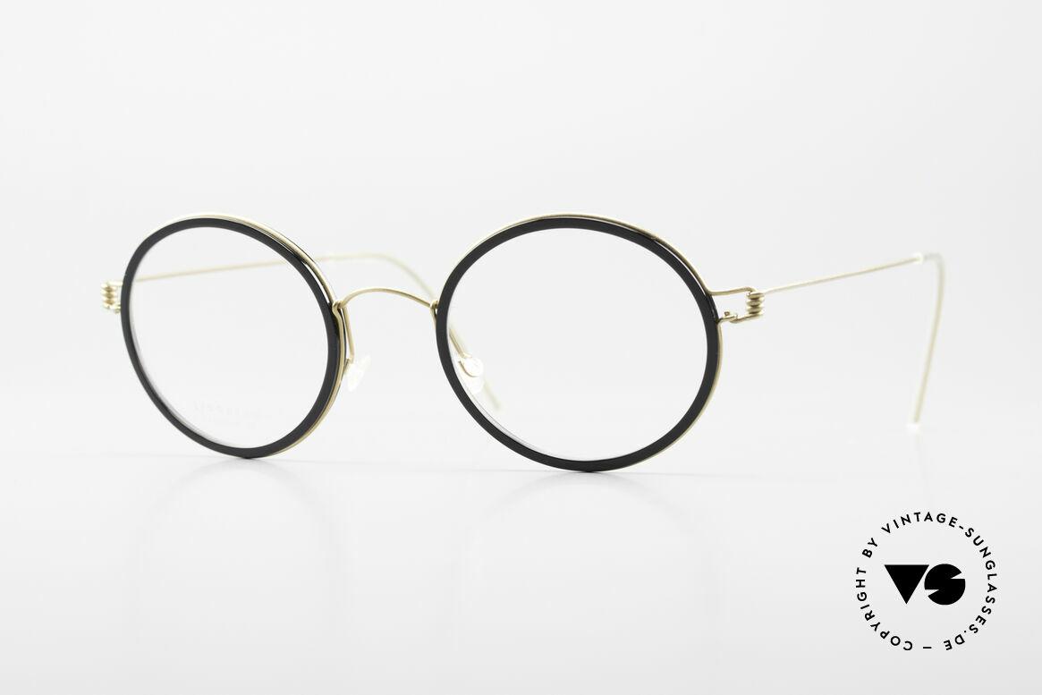 Lindberg Cameron Air Titan Rim Round Titan Glasses Acetate, round glasses of the LINDBERG Air Titanium collection, Made for Men and Women