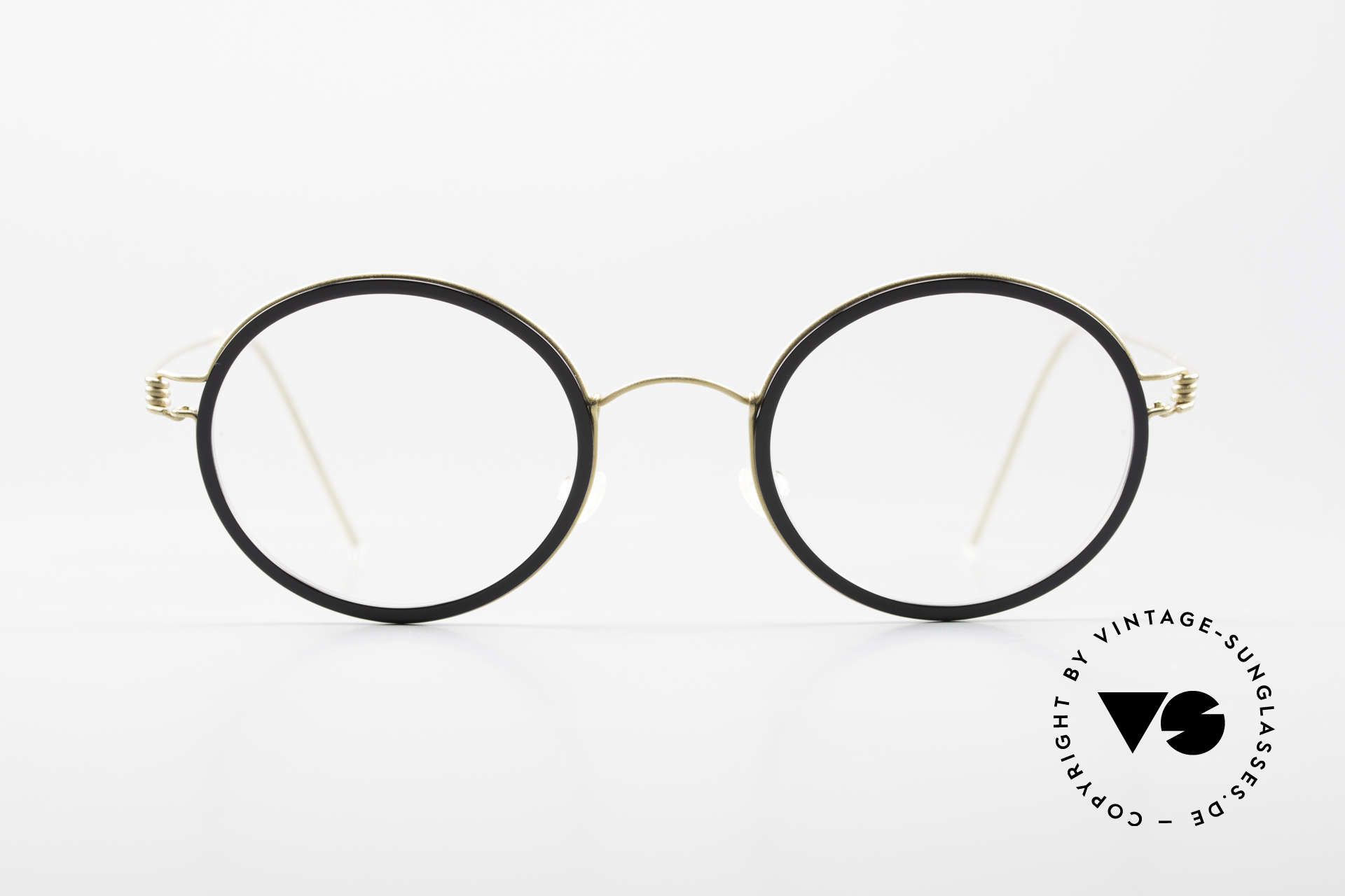 Lindberg Cameron Air Titan Rim Round Titan Glasses Acetate, mod. Cameron in size 46-22, temple length 135, col. GT, Made for Men and Women