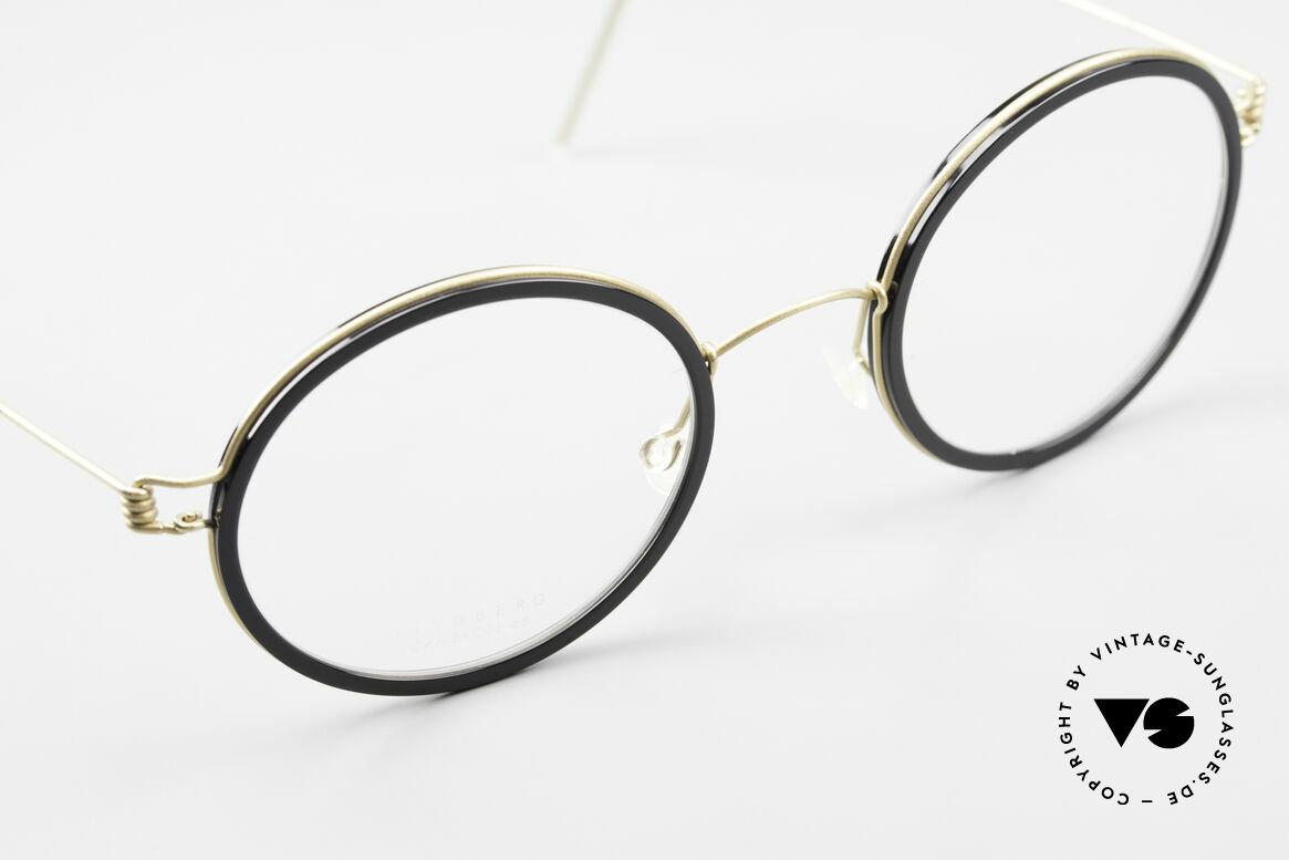 Lindberg Cameron Air Titan Rim Round Titan Glasses Acetate, unworn, NOS, with original magnetic case by Lindberg, Made for Men and Women