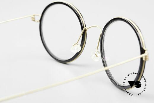 Lindberg Cameron Air Titan Rim Round Titan Glasses Acetate, orig. Lindberg DEMO lenses can be replaced optionally, Made for Men and Women