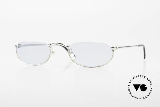 Cartier Demi Lune 2000 Oval Reading Frame Platinum Details