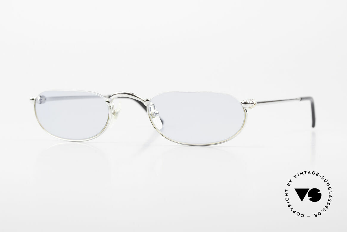 Cartier Demi Lune 2000 Oval Reading Frame Platinum, oval CARTIER reading eyeglasses in size 51/23, 140, Made for Men and Women