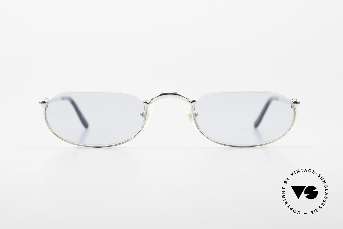 Cartier Demi Lune 2000 Oval Reading Frame Platinum, unisex model of the 'THIN RIM' Collection by Cartier, Made for Men and Women