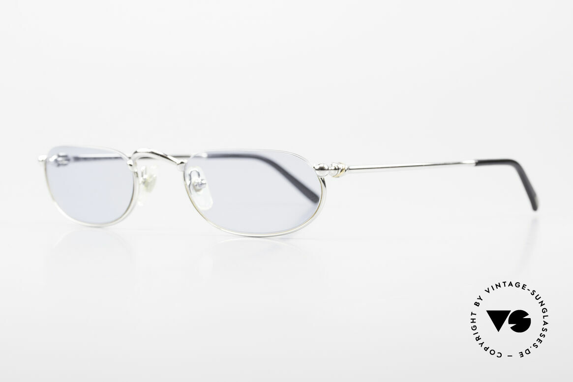 Cartier Demi Lune 2000 Oval Reading Frame Platinum, costly 'Platine Edition' (frame with platinum finish), Made for Men and Women
