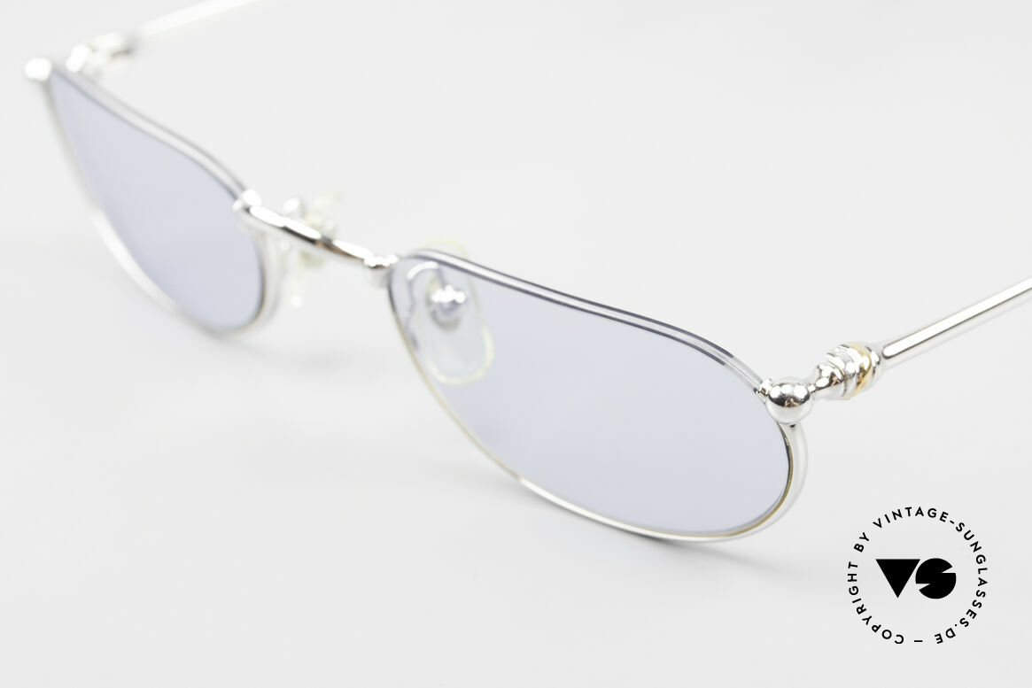 Cartier Demi Lune 2000 Oval Reading Frame Platinum, 2nd hand model, but in an absolutely mint condition, Made for Men and Women