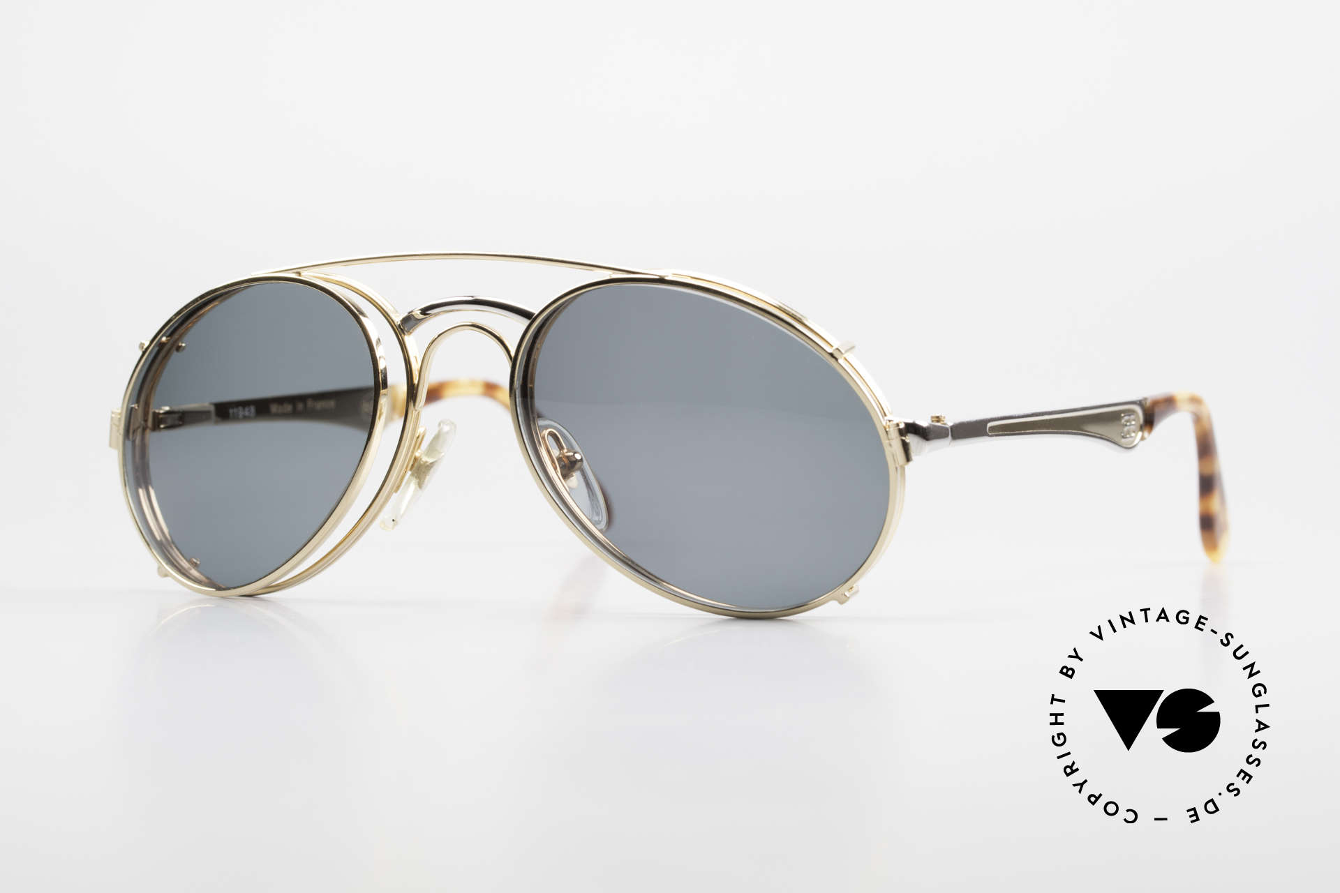 Bugatti 11948 Luxury Men's Glasses Clip On, vintage 80's men's eyeglass-frame in size 52/20, Made for Men