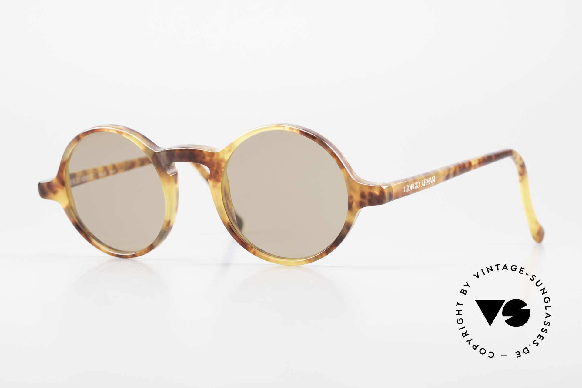 Giorgio Armani 324 Round 90's Designer Sunglasses, timeless vintage Giorgio Armani designer sunglasses, Made for Men