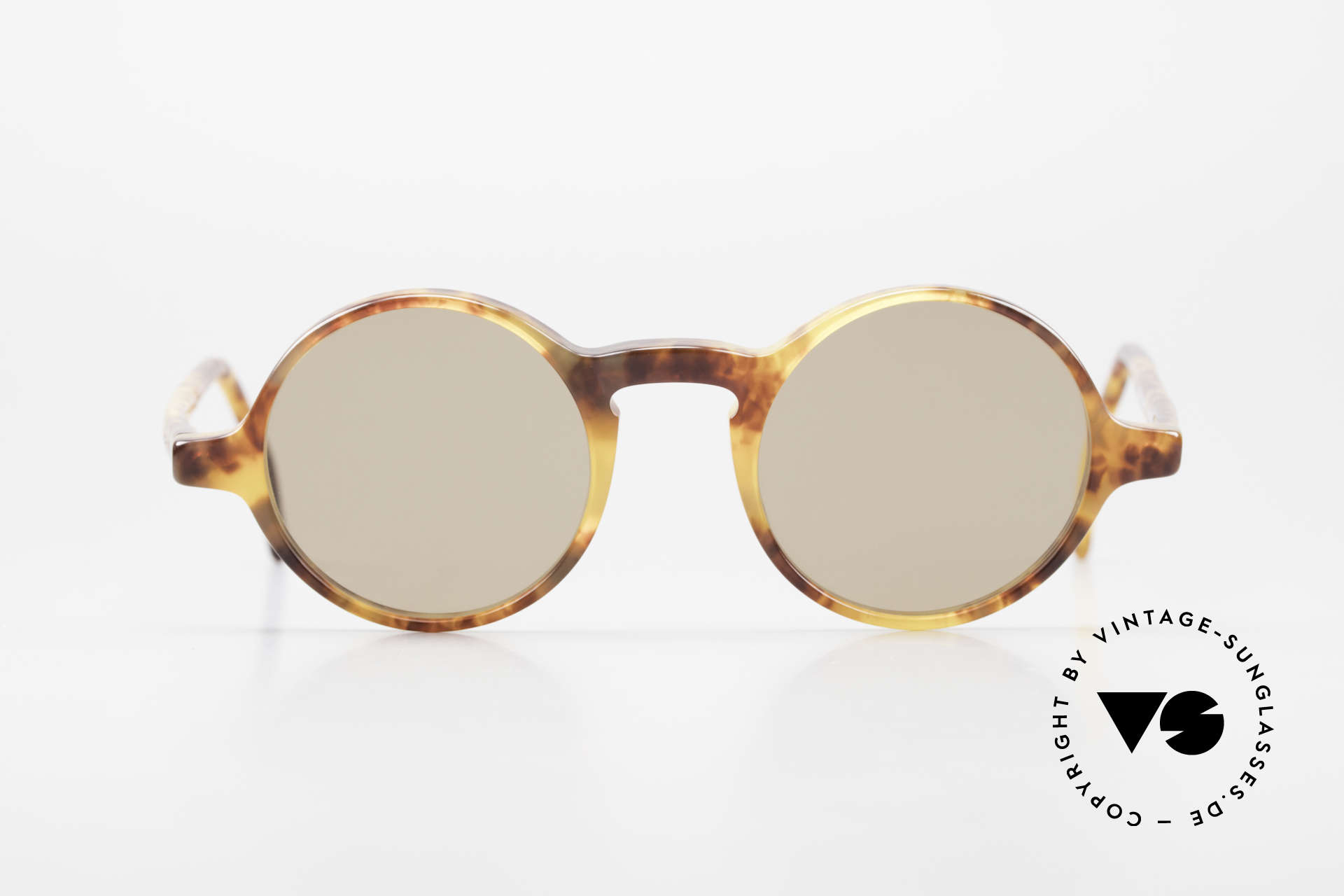 Giorgio Armani 324 Round 90's Designer Sunglasses, round frame design with interesting pattern (amber), Made for Men