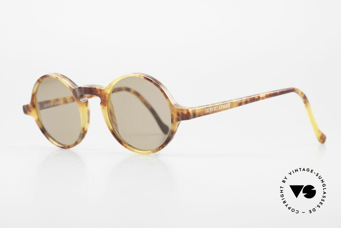 Giorgio Armani 324 Round 90's Designer Sunglasses, premium Italian craftsmanship & 100% UV protection, Made for Men