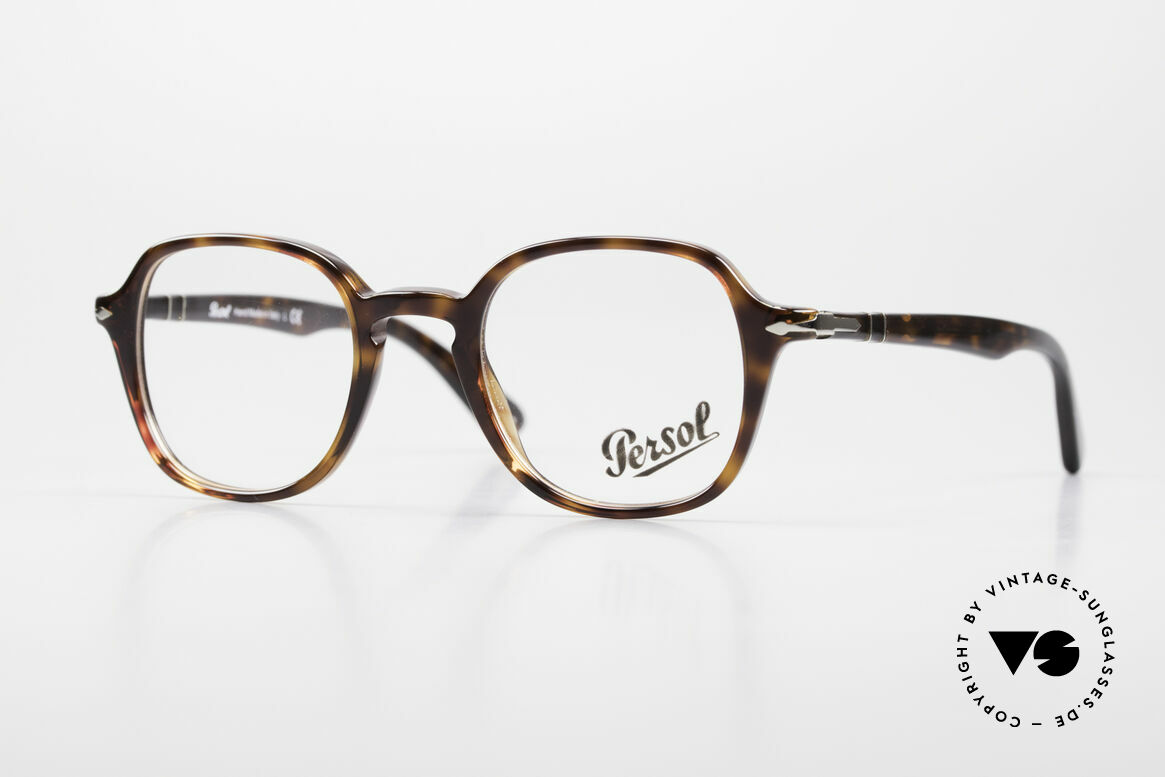Persol 3142 Square Panto Eyeglasses Unisex, elegant Persol eyeglass-frame in SMALL size, Made for Men and Women
