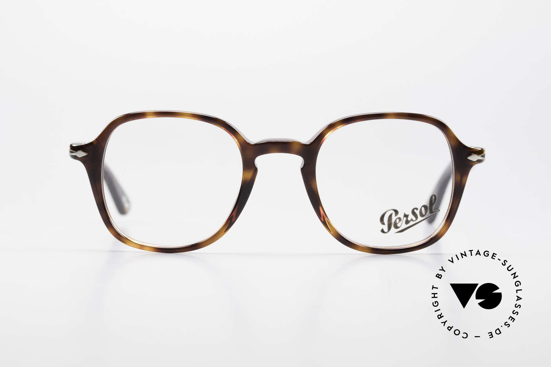 Persol 3142 Square Panto Eyeglasses Unisex, original name: 3142-V, col. 24, size 45-21, 145, Made for Men and Women