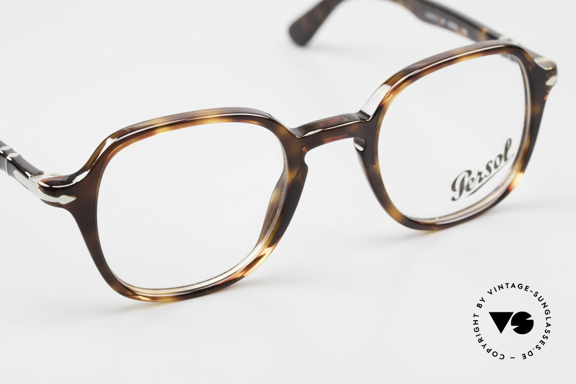 Persol 3142 Square Panto Eyeglasses Unisex, reissue of the old vintage Persol RATTI models, Made for Men and Women