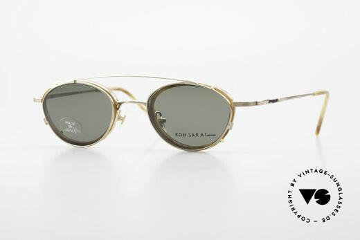 Koh Sakai KS9832 Vintage Glasses With Clip On Details