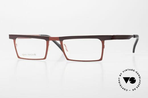 Theo Belgium Chato Square Titanium Glasses Unisex Details