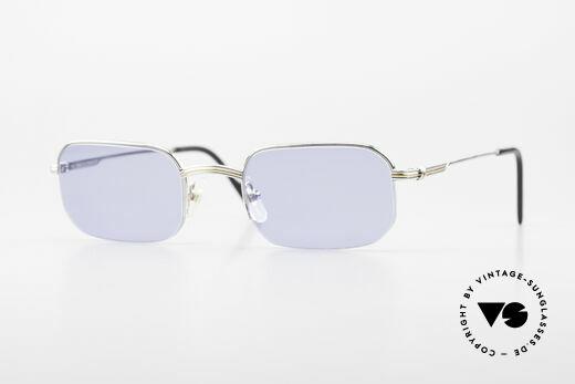 Cartier Broadway Semi Rimless Platinum Frame Details