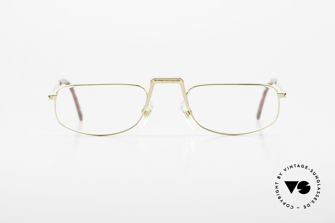 Christian Dior Saint German Gold Plated Folding Glasses, unique 1990's designer piece by Christian Dior, Made for Men