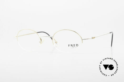 Fred F10 L02 90's Luxury Frame Semi Rimless Details