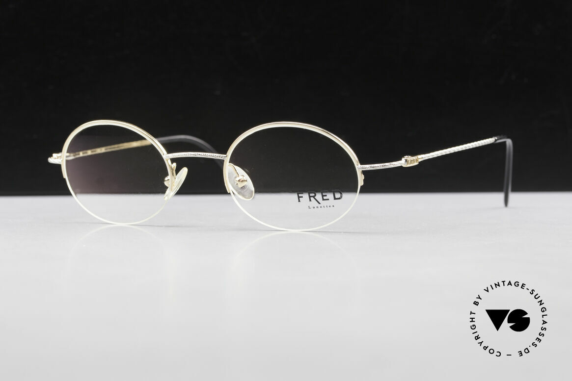 Fred F10 L02 90's Luxury Frame Semi Rimless, Size: medium, Made for Men and Women