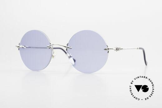 Fred Fidji Rimless Round Luxury Shades Details