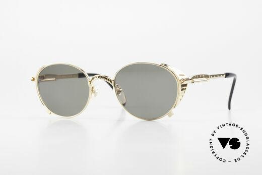 Jean Paul Gaultier 56-4174 Steampunk Sunglasses 90's Gold Details