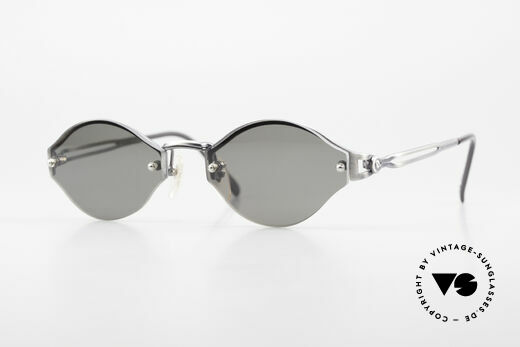 Jean Paul Gaultier 56-7111 Rimless Designer Sunglasses Details