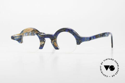 Proksch's A2 Futuristic Round 90's Eyeglasses Details