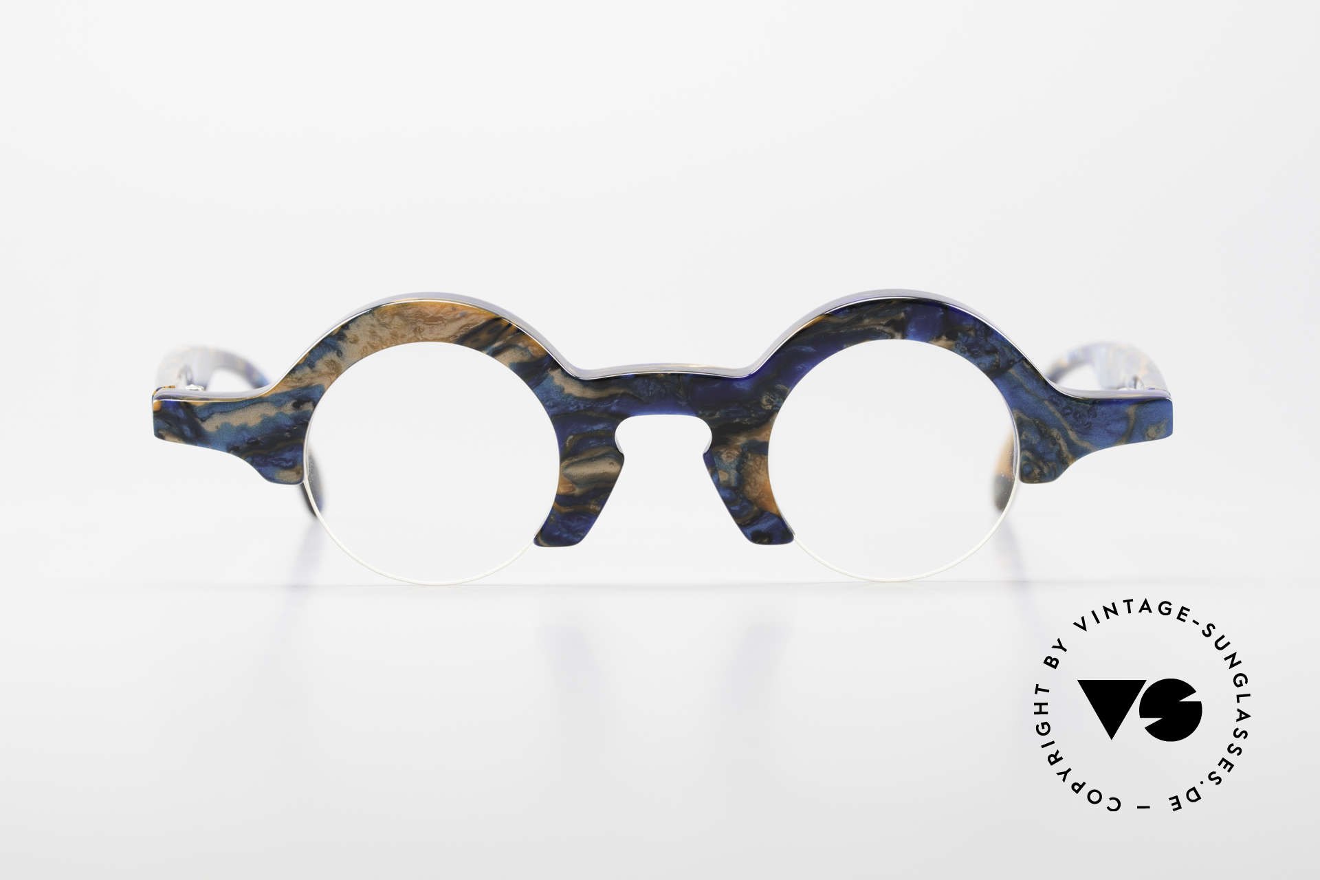 Proksch's A2 Futuristic Round 90's Eyeglasses, Proksch rarity for character heads / individualists, Made for Men and Women