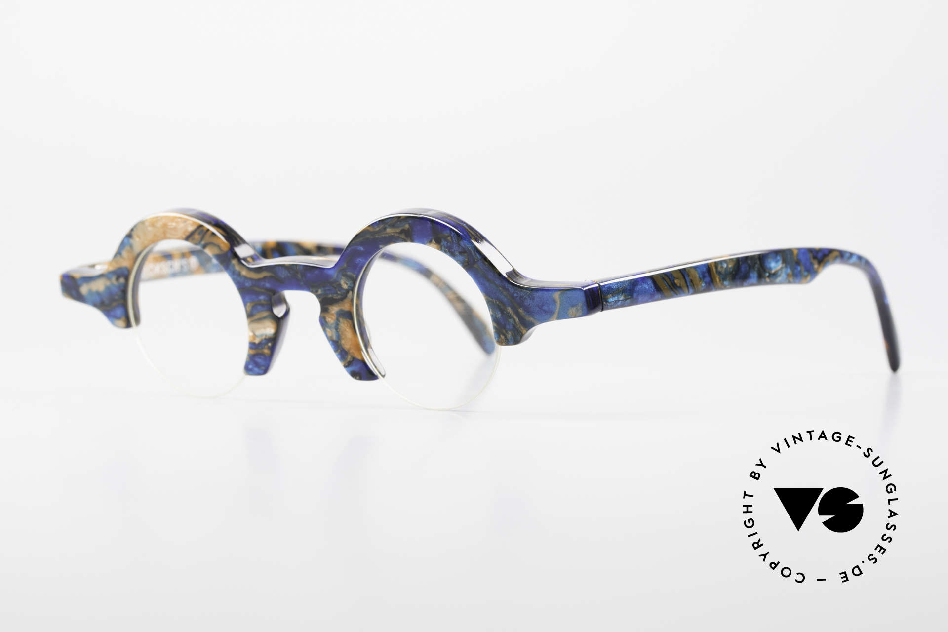 Proksch's A2 Futuristic Round 90's Eyeglasses, futuristic design from back in the days (mid 90's), Made for Men and Women