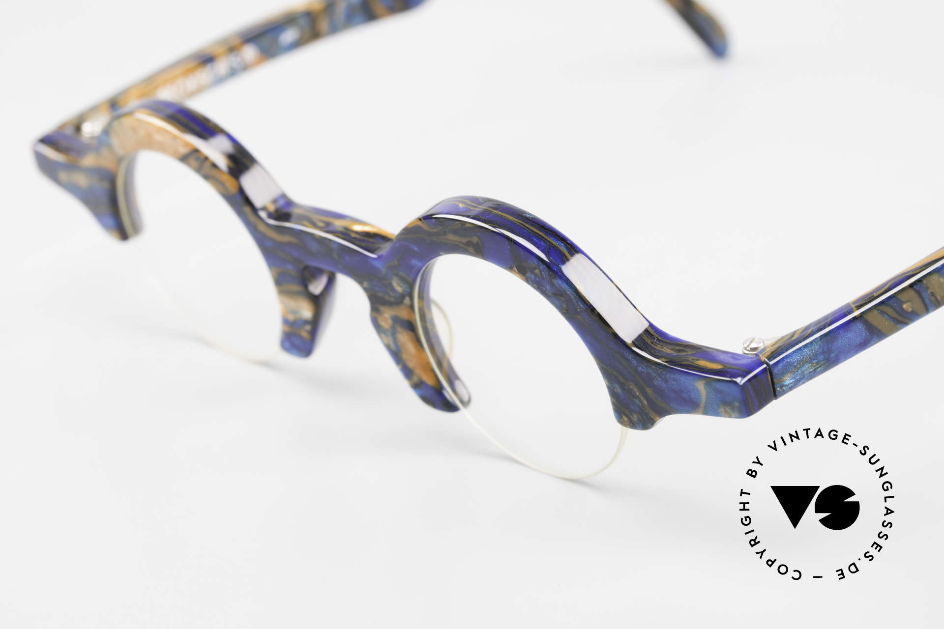 Proksch's A2 Futuristic Round 90's Eyeglasses, never worn (like all our vintage designer frames), Made for Men and Women