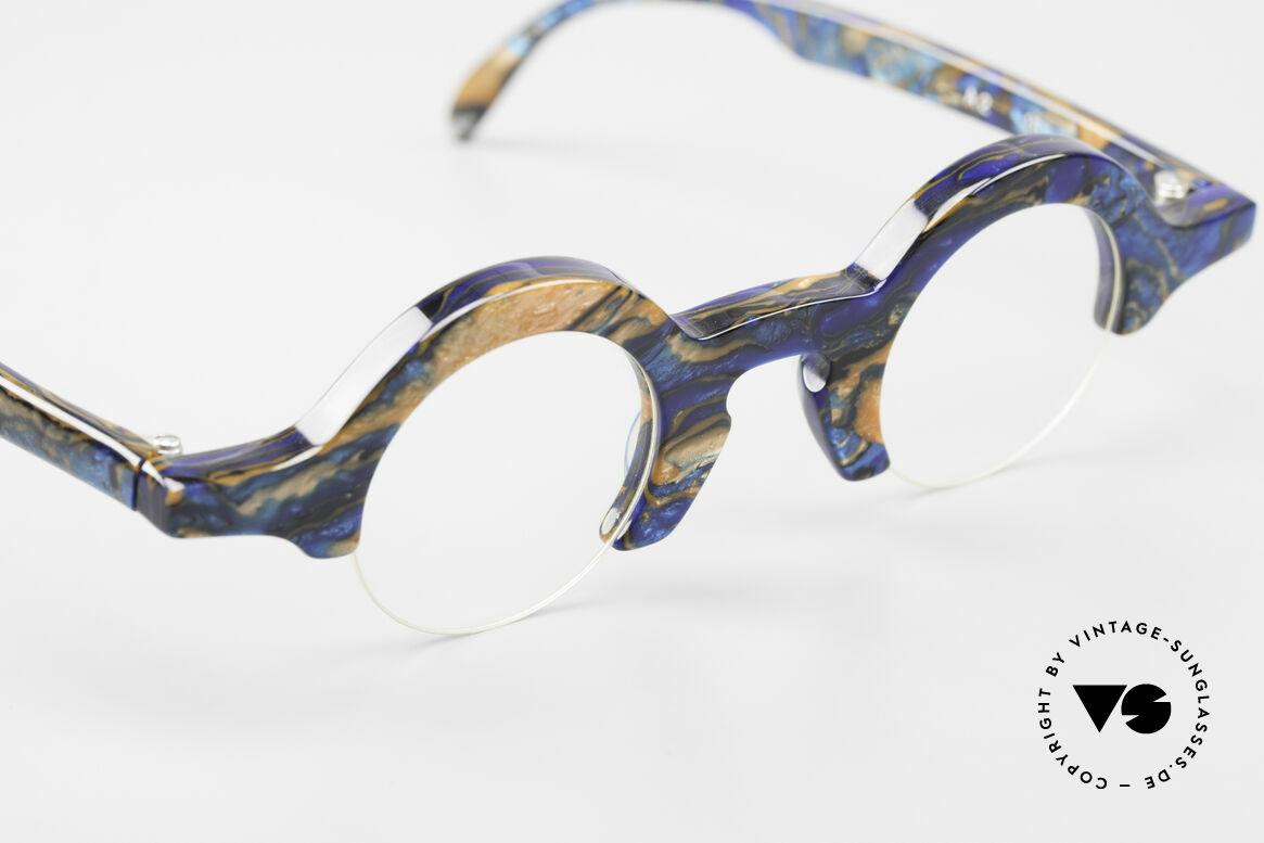 Proksch's A2 Futuristic Round 90's Eyeglasses, NO present retro design; a 30 years old original!, Made for Men and Women