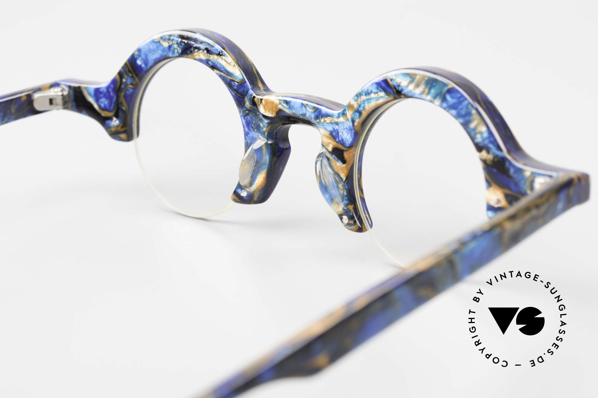 Proksch's A2 Futuristic Round 90's Eyeglasses, DEMOS can be replaced optionally (optical / sun), Made for Men and Women