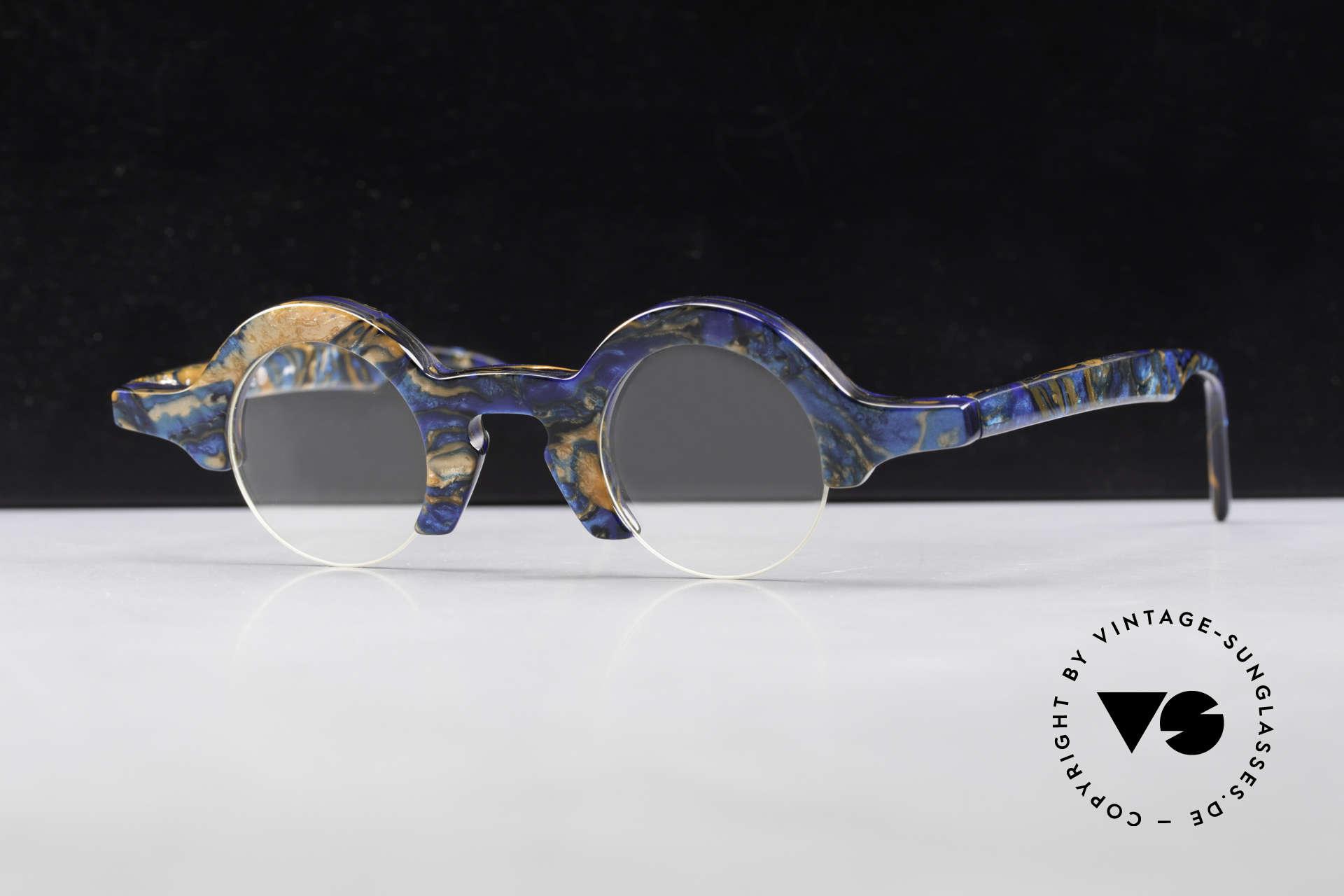 Proksch's A2 Futuristic Round 90's Eyeglasses, Size: medium, Made for Men and Women