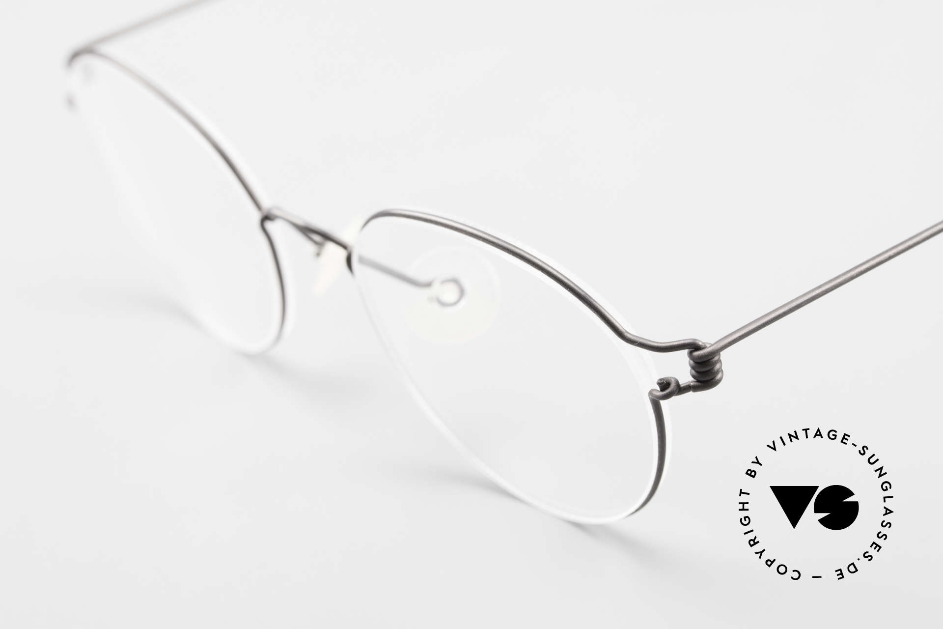 Lindberg Panto Air Titan Rim X Small Titanium Frame Panto, extremely strong, resilient and flexible (and 3g only!), Made for Men and Women
