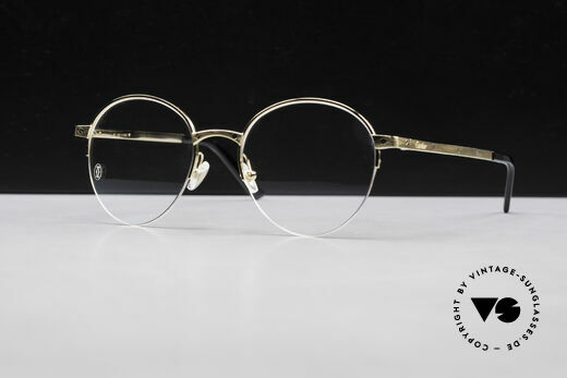Cartier Core Range CT01080 Panto Eyeglasses Semi Rimless Details