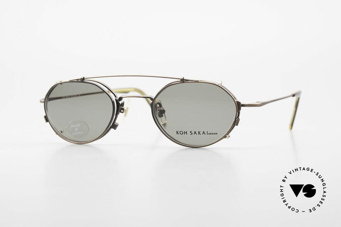 Koh Sakai KS9719 Vintage Frame Ladies & Gents, vintage glasses Koh Sakai KS9719, 46-21, with clip-on, Made for Men and Women