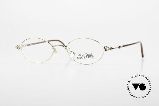 Jean Paul Gaultier 55-0013 Oval Vintage Frame Gold Plated Details