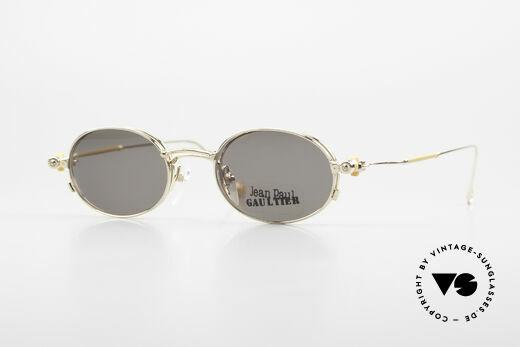 Jean Paul Gaultier 55-8106 Oval Vintage Frame Gold Plated Details