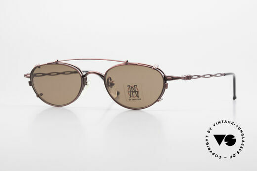 Jean Paul Gaultier 57-0006 Rare Vintage Frame 90's Clip On Details