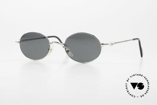 Cartier Filao Oval Platinum Sunglasses 90's Details