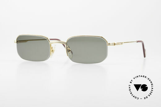 Cartier Broadway Semi Rimless Sunglasses 90's Details