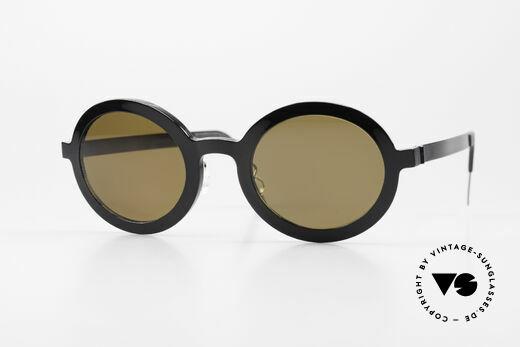 Lindberg 8570 Acetanium Round Sunglasses Unisex Oval Details