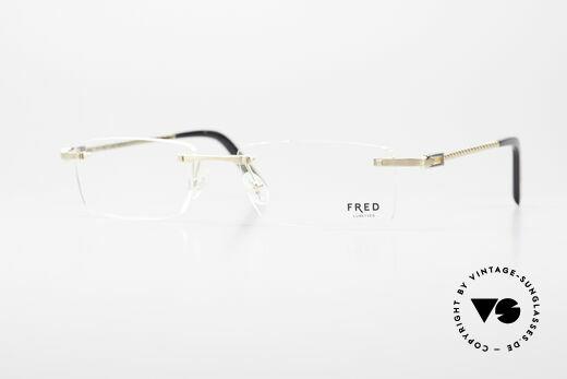 Fred Samoa Rimless Luxury Eyeglass-Frame Details