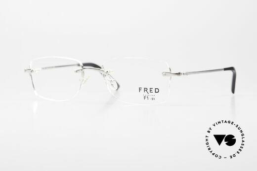 Fred Manhattan Rimless Eyeglasses Platinum Details
