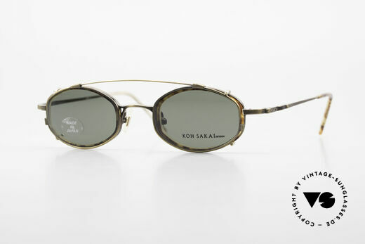 Koh Sakai KS9836 Titanium Glasses With Clip On Details