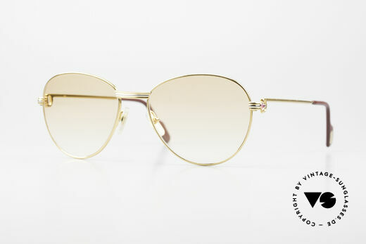Cartier S Rubis 0,34 ct Real Rubies Sunglasses 1980's Details