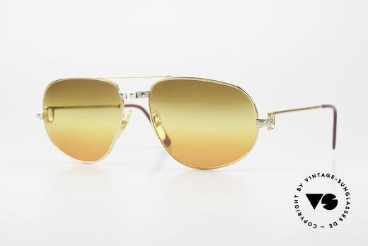 Cartier Romance Santos - XL 80s Luxury Vintage Sunglasses Details